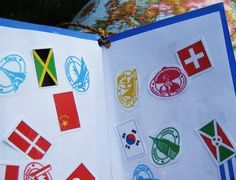 printable passport stickers flags and stamps