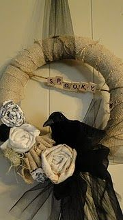 If a halloween wreath can be elegant, this is it