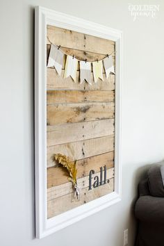 Pallet Art Display and My Simple Fall Decor #wallart #home