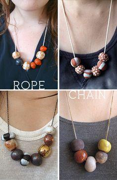More Design Please - MoreDesignPlease - Ceramic Necklaces by Juliet Gorman