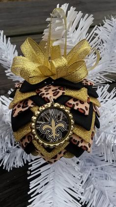 New Orleans Saints 2 Bottle Cap Christmas quilted Ornaments Handmade