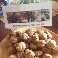 Dany's Dragon Dumplings - served with hot sauce and spicy mustard