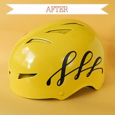 redecorated bike helmet- another craft project!