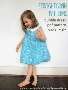StraightGrain. A blog about sewing: Bubble dress pattern available now