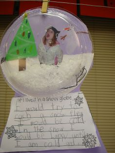 Tori's Teacher Tips: Snow Globes from clear paper plates