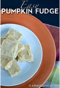 Easy Pumpkin Fudge Recipe