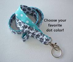 Lanyard ID Badge Holder Lobster clasp and key ring by Laa766