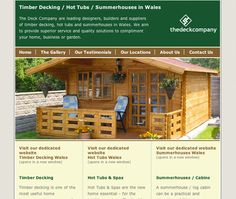 Timber decking Wales website - designed and built by Coventry web design company, Design One For Me