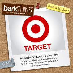 barkTHINS® snacking chocolate is now available in select @Target locations! #snackingchocolate #nongmo #fairtrade #seriouslygood #chocolate #target
