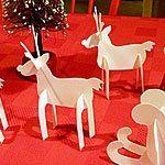 3d paper reindeer