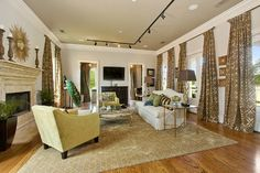 Malkemus Residence - transitional - living room - new orleans - Maria Barcelona Interiors, LLC