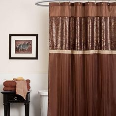 Take your animal print decor to the bathroom too!!! Stylize with our rich crocodile shower curtain. #AnnasLinens