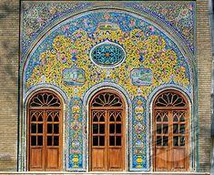 Facade Of The Golestan Palace, Tehran, Iran