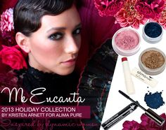 """Get the Me Encanta """"Sultry"""" look with just 4 all-natural colors and 1 mascara included in one holiday collection that's just $50. Limited Time!"""