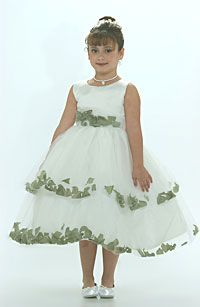 Double Garden Rose Petals - Flower Girl Dress For Less