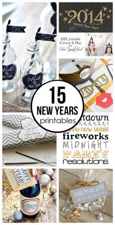 15 free New Years Eve printables on iheartnaptime.com
