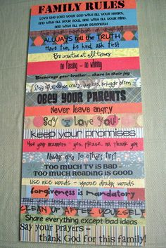 Good family rules!