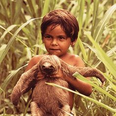 kid + sloth = awesome