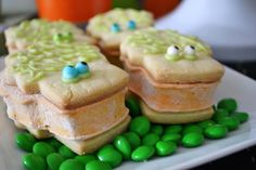 Adorable cookies at a Halloween Monster Bash Full of Awesome Ideas via Kara's Party Ideas   KarasPartyIdeas.com #Halloween #Party #Ideas #Supplies #monster #cookies