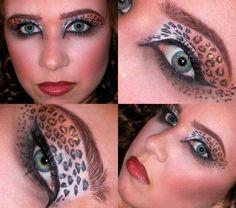 leopard print eye makeup