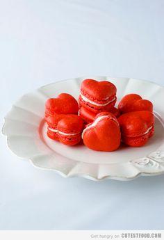 Valentines Day Macaroons, #valentine's day