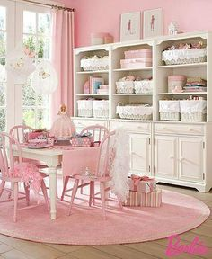 Light Pink Craft room, very calming, I MUST GET THE CHAOS out of my Craft Room!