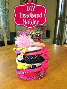 Easy diy headband holder #crafts #diy #storage #organization #ducttape
