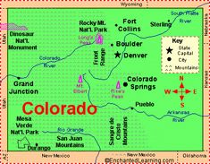 Colorado: Facts, Map and State Symbols - EnchantedLearning.com