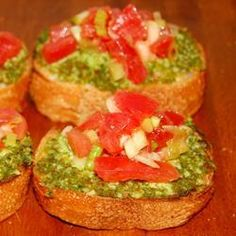 "Bruschetta II | ""My son brought his friends over for lunch and these were gone in two minutes. Sixteen thumbs up. :)"""