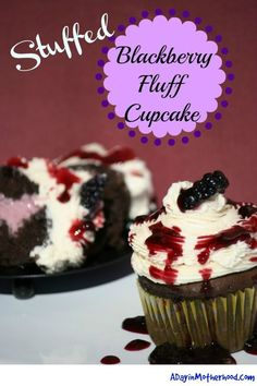 Blackberry Fluff Cup