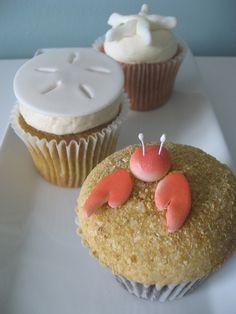 sea creature cupcakes! awesome idea