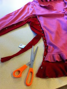 Easy clothing alterations, how to alter a thrift-store sweater