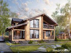 Дизайн интерьеры дом из клееного бруса
