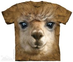 Big Face Alpaca T-Shirt at theBIGzoo.com, a toy store featuring 3,000+ stuffed animals.