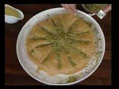 مطبخ منال العالم / حلويات / بقلاوة بالقشطة - YouTube
