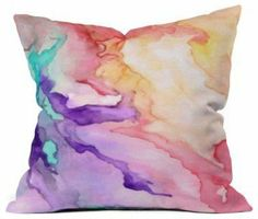 DENY Designs Rosie Brown Color My World Outdoor Throw Pillow - modern - outdoor pillows - by Hayneedle on Wanelo #pillow #homedecor #trowpillow #denydesigns #houzz #art
