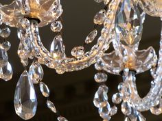 A peek at the chandelier hanging in the dining room at Shirley Plantation!