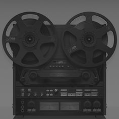 pre-cassette, pre-cd, there was the elegant reel-to-reel. hours of recording.