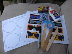 jesus miracles crafts, vbs crafts, blind man craft