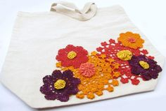 DIY  DOILY CRAFTS : Fabric Crafting: Dyed Doily and Yo-Yo Tote Bag