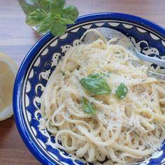 Linguine au citron / Linguine in the lemon, pecorino and basil, La Cantine des cousins