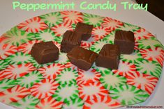 Peppermint Candy Trays - and fluted bowls too! Great way to share Christmas cookies and not need to have your plate returned.