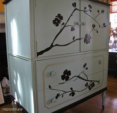 Hometalk :: Tired homemade chalk paint for the first time and I think I love it! I…