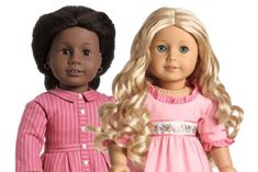 American Girl hair care for the different types of doll hair ( textured, wavy, curly, and straight)