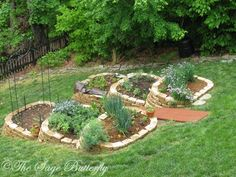 The Sage Butterfly: How We Built Our Tiered Raised Bed Vegetable Garden on a Slope