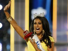 New Miss America's Indian heritage celebrates racial diversity, which is Nina Davulari's, The New Miss America's platform.  Too bad many people have to react with racist blasts.  Ignorance.  I happen to love that there are all types of women vying for the title.  It's ridiculous that in 2013 there is still negative backlash.