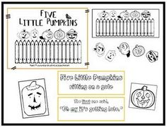 5 little pumpkins poem/activity