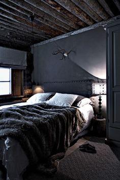 ♂ Masculine, crafty & rustic dark interior design bedroom