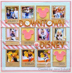 Noel Mignon Downtown Disney layout by Jana Eubank.