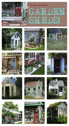Check out these incredible garden sheds!